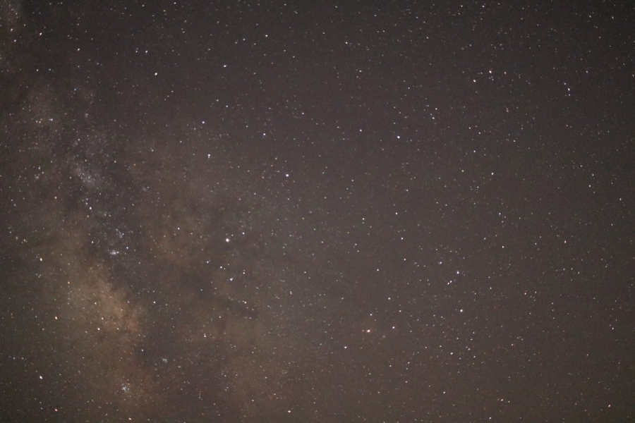 Milky Way picture showing the core. Different area and view.