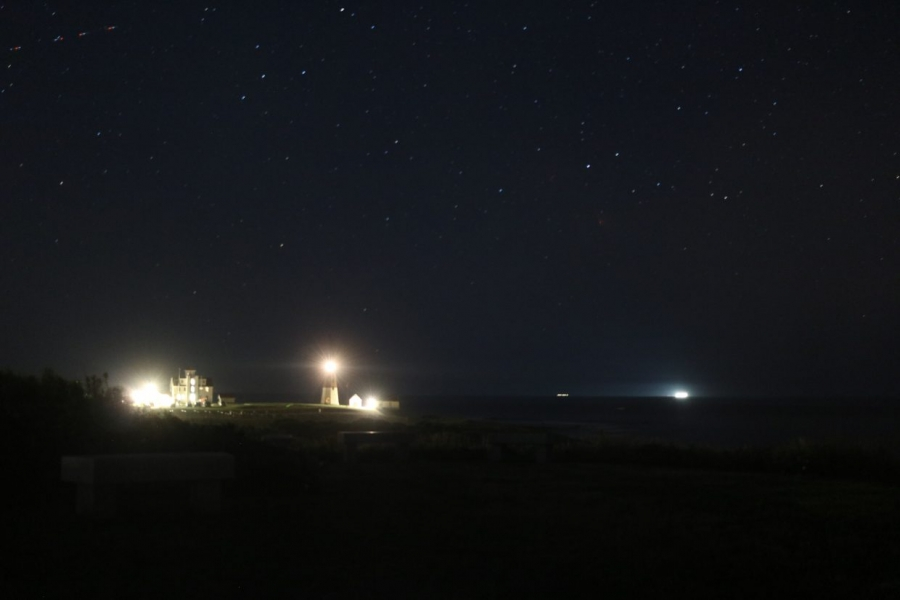 A lighter version of Pt Judith lighthouse by changing the ISO.